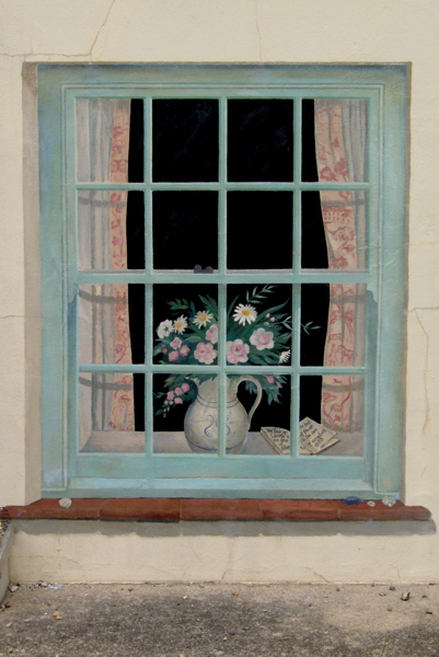 Trompe l'oeil exterior window - Norfolk