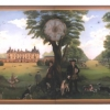 Houghton Hall tea room mural