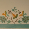 Stencilled frieze in Norfolk kitchen