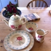 Bridgewater spongeware : Rose Pattern